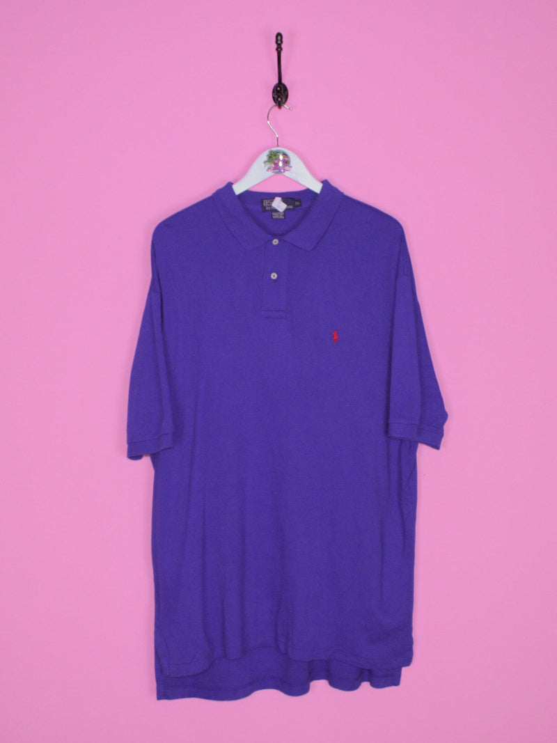 Blue Ralph Lauren Polo Shirt XL - BB Vintage Clothing