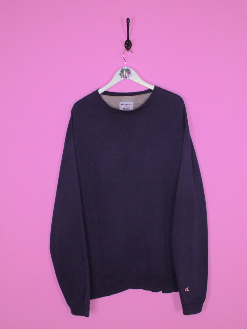 Navy Blue Champion Sweatshirt XL - BB Vintage Clothing