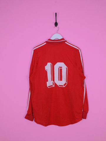 Red Adidas Football Shirt XL - BB Vintage Clothing