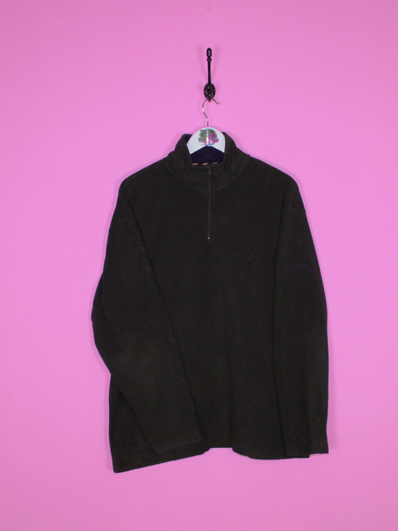 Green Nautica 1/4 Zip Fleece L - BB Vintage Clothing