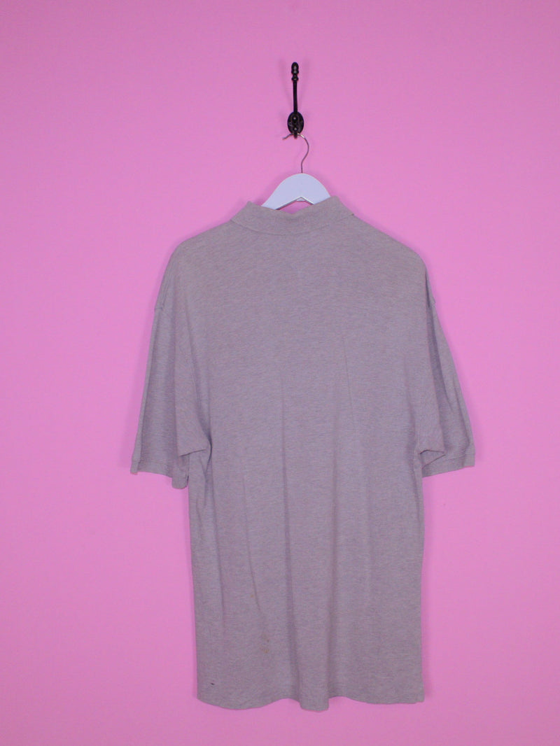 Grey Tommy Hilfiger Polo Shirt XL - BB Vintage Clothing