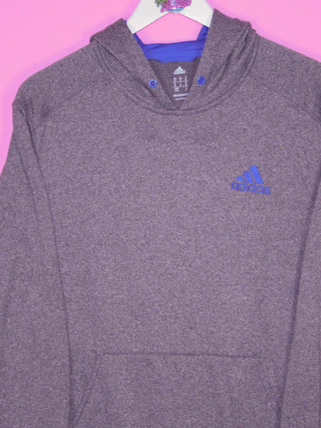 Grey Adidas Hoodie S - BB Vintage Clothing