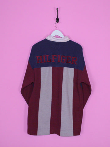 Navy Blue Tommy Hilfiger Athletics Rugby Shirt L