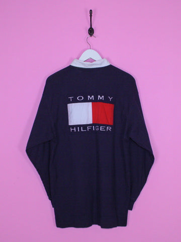 Navy Tommy Hilfiger Flag Rugby Shirt L