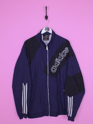 Navy/Black Adidas Windbreaker Jacket XL