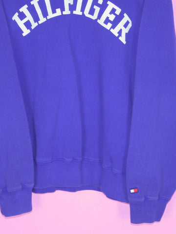 Blue Tommy Hilfiger Spell Out Sweatshirt L