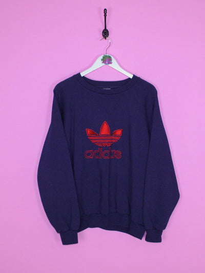 Navy Blue Adidas Sweatshirt L - BB Vintage Clothing