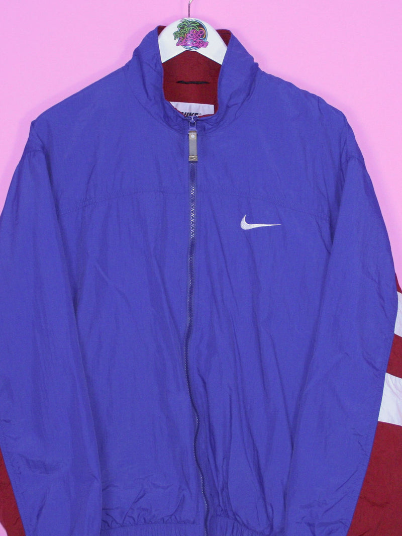 Blue and Red Nike Swoosh Windbreaker Jacket M - BB Vintage Clothing