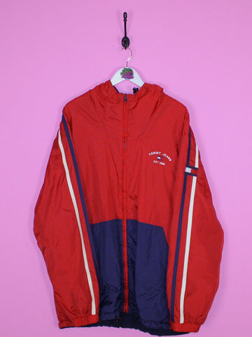 Red Tommy Hilfiger Jeans Fleece Lined Jacket XL