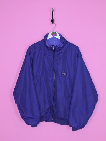 Navy Patagonia Fleece Lined Jacket XL