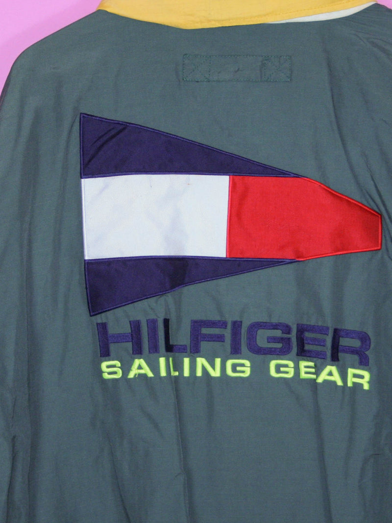 Green Tommy Hilfiger Sailing Gear Jacket L - BB Vintage Clothing