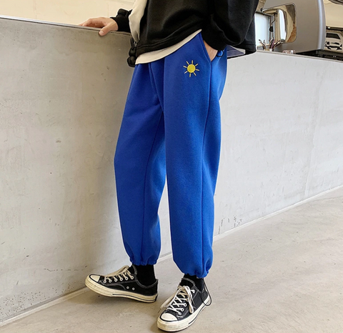 "Blue ""The Elements"" Tracksuit Bottoms S"