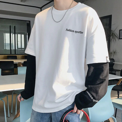 "White ""Fashion Sporther"" Sweatshirt M"