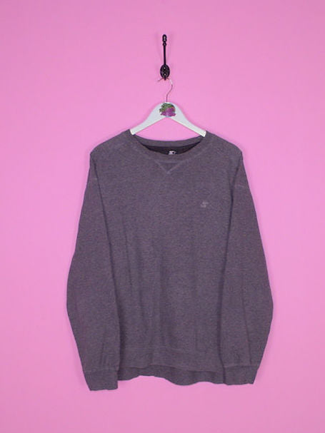 Grey Starter Sweatshirt L - BB Vintage Clothing