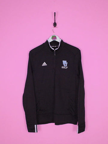 Black Adidas 1/4 Zip Sweatshirt L - BB Vintage Clothing