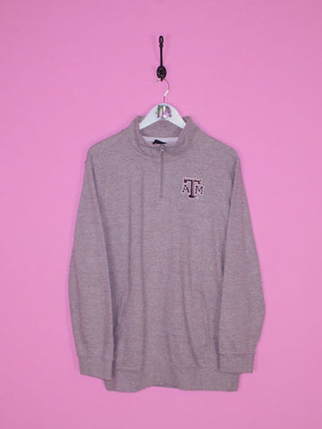 Grey Adidas 1/4 Zip Sweatshirt L - BB Vintage Clothing
