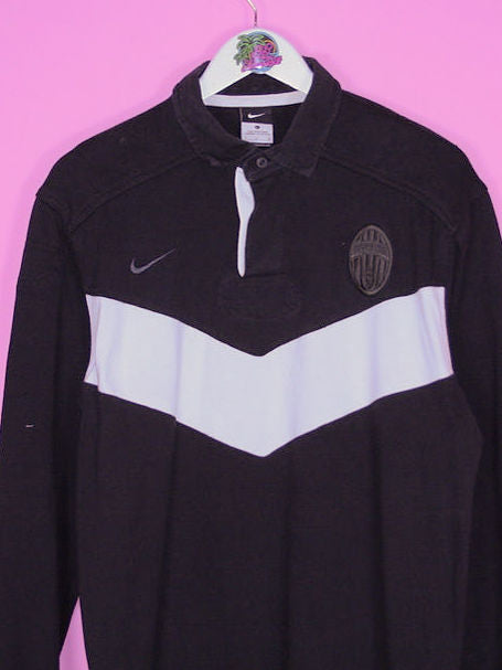 Black Nike Juventus Rugby Shirt L - BB Vintage Clothing