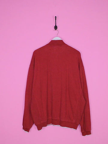 Red Nike 1/4 Zip Sweatshirt XL - BB Vintage Clothing
