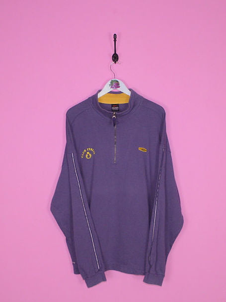 Blue Nike 1/4 Zip Sweatshirt XL - BB Vintage Clothing
