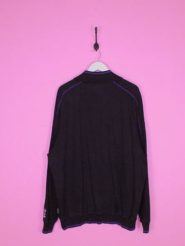 Black Nike 1/4 Zip Sweatshirt XL - BB Vintage Clothing
