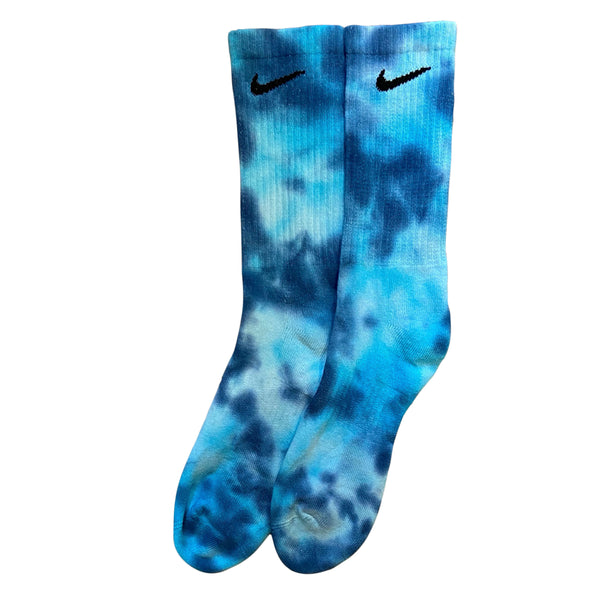 Nike Tie Dye Socks Navy Blue/Blue/White
