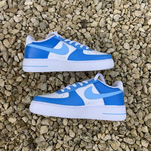 "Custom Nike Air Force 1 ""Blue Colourblock"""