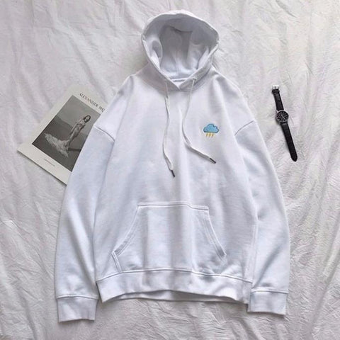 "White ""The Elements"" Hoodie M"