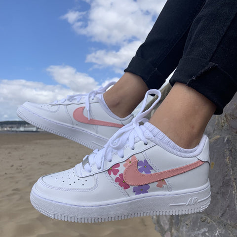 "Custom Nike Air Force 1 ""Flower"""