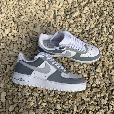 "Custom Nike Air Force 1 ""Grey Colourblock"""