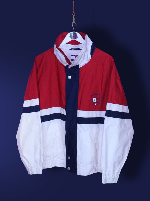 Red Tommy Hilfiger Star Class Flag Jacket XL - BB Vintage Clothing