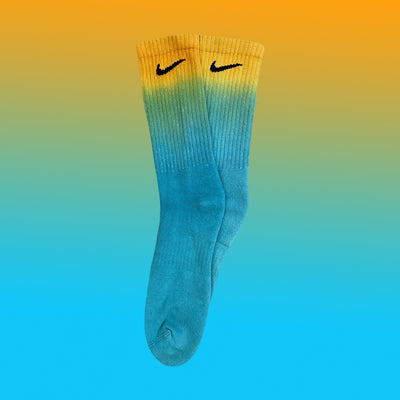 Nike Socks Dip Dye Blue/Orange - BB Vintage Clothing
