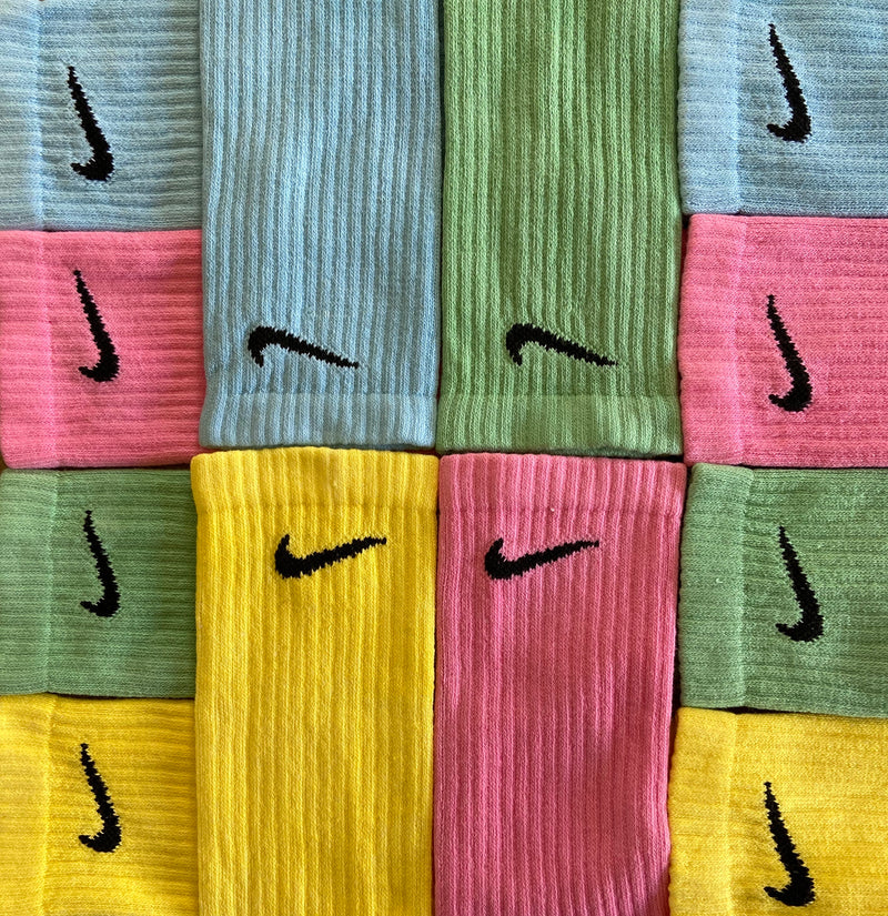 Nike Socks Block Dye Sunshine Yellow - BB Vintage Clothing