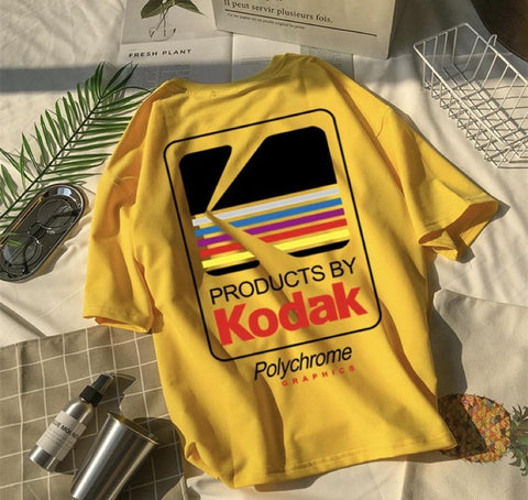 "Yellow ""Kodak"" T Shirt (Various Sizes)"