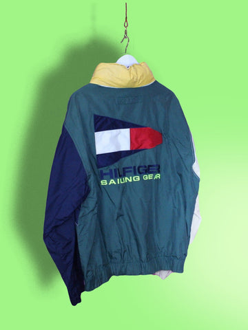 Green Tommy Hilfiger Sailing Gear Jacket L
