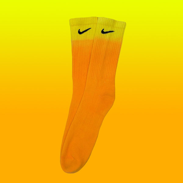 Nike Socks Dip Dye Orange/Yellow - BB Vintage Clothing