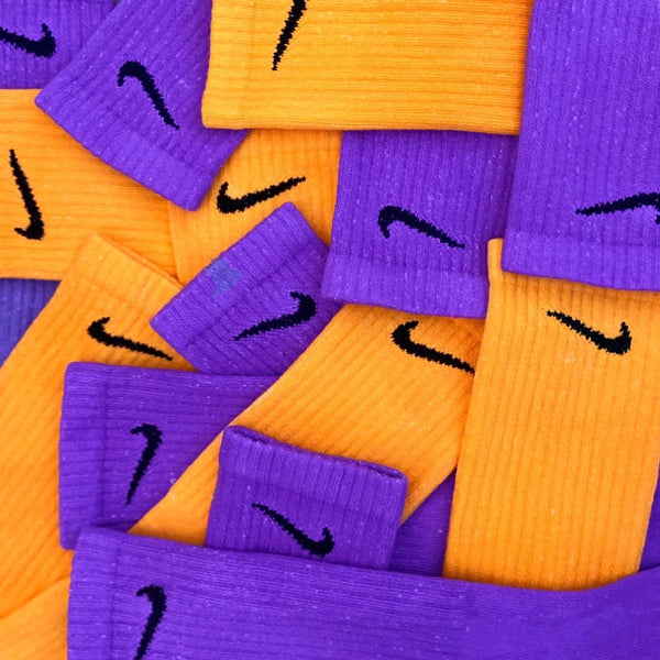 Nike Socks Block Dye Purple - BB Vintage Clothing