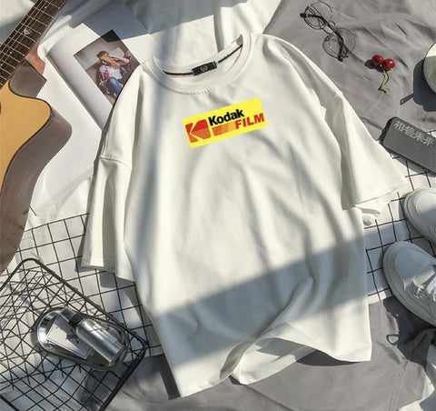 "White ""Kodak"" T Shirt S"
