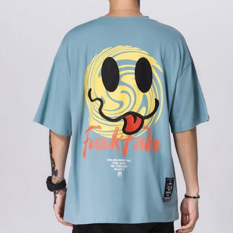 "Blue ""Fake"" T Shirt S"
