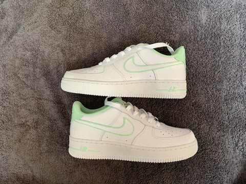 "Custom Nike Air Force 1 ""Mint In&Outline"""