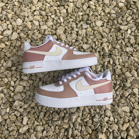 "Custom Nike Air Force 1 ""Mocha"""