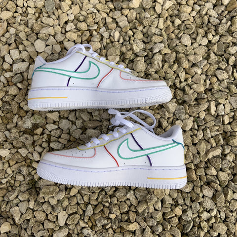 "Custom Nike Air Force 1 ""Multi Outline"""