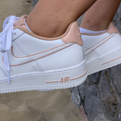 "Custom Nike Air Force 1 ""Nude In&Outline"""