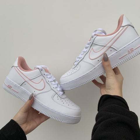 "Custom Nike Air Force 1 ""Pink In&Outline"""