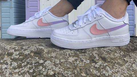 "Custom Nike Air Force 1 ""Pink & Purple Ombre"""