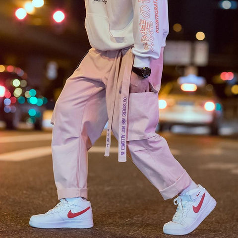 "Pink ""Outsiders"" Cargo Pants S"