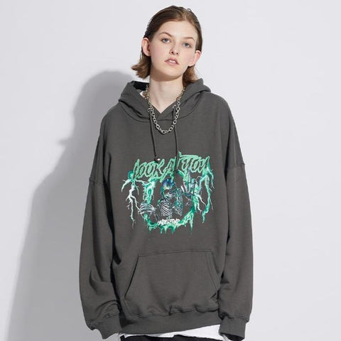 "Grey ""Look At You"" Hoodie"