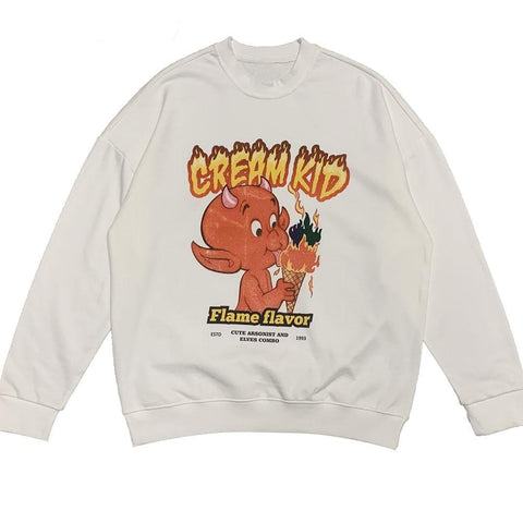 "White ""Cream Kid"" Sweatshirt"