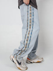 """Plaid Stripe"" Jeans"