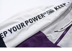 """Keep Your Power"" Colour Block Windbreaker - BB Vintage Clothing"