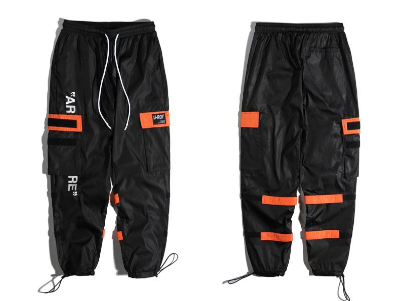 "Black ""AR-RE"" Cargo Pants XL"